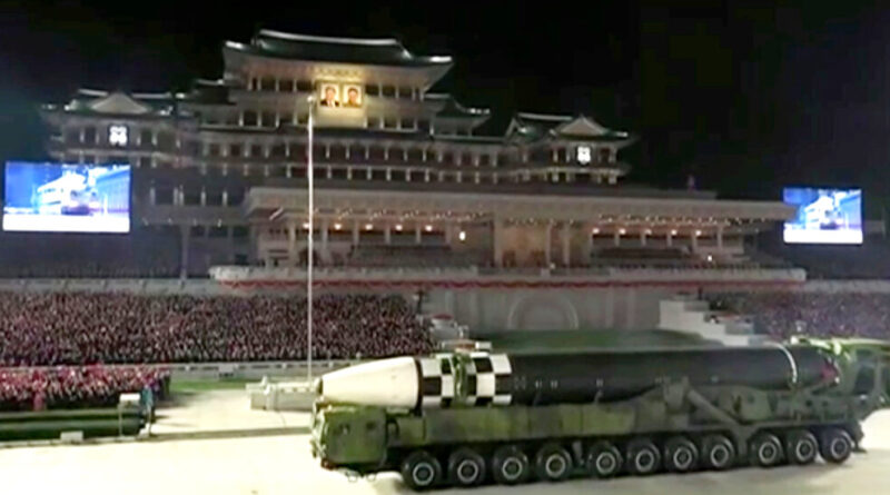 North Korea Unveils What Appears to Be New ICBM During Military Parade