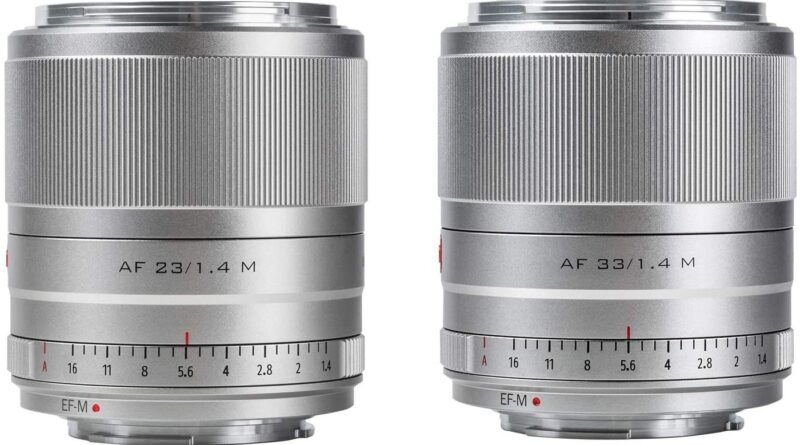 Viltrox has released their EF-M 23mm f/1.4 and 33mm f/1.4 autofocus lenses for Canon EOS M cameras