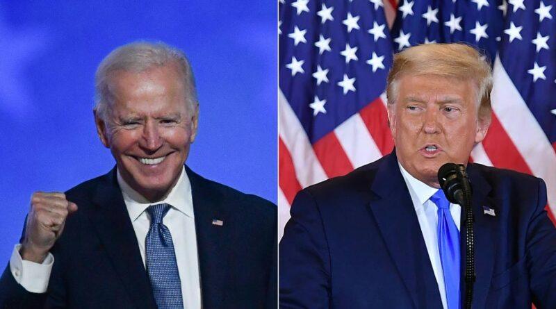 Biden projected to win 306 electoral votes to Trump's 232
