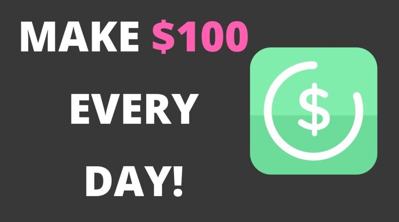 HOW TO MAKE $100 A DAY WITH A SINGLE APP! {FAST}
