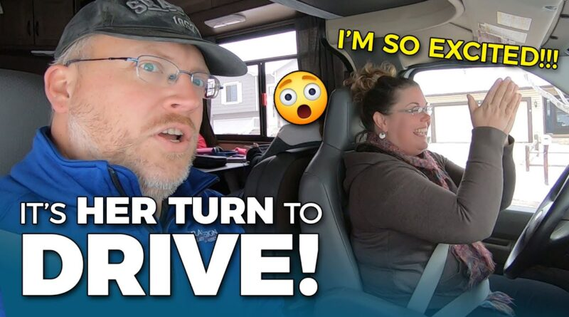 HER FIRST TIME DRIVING AN RV! Are Motorhomes Hard to Drive?