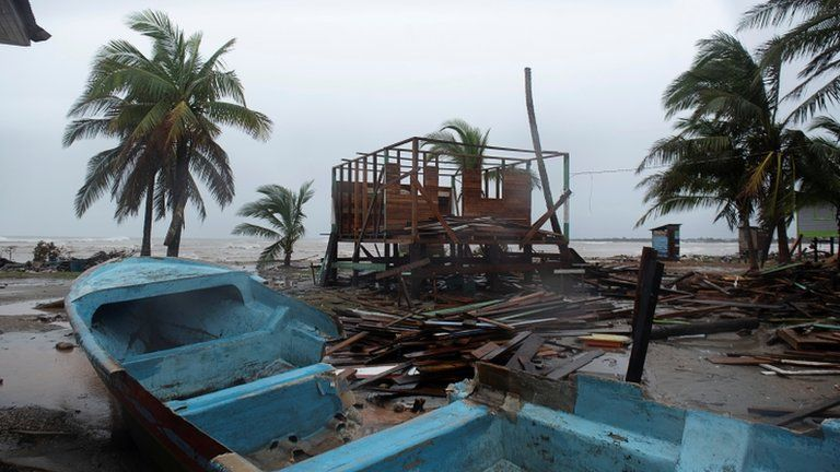 Category four storm hits Nicaragua