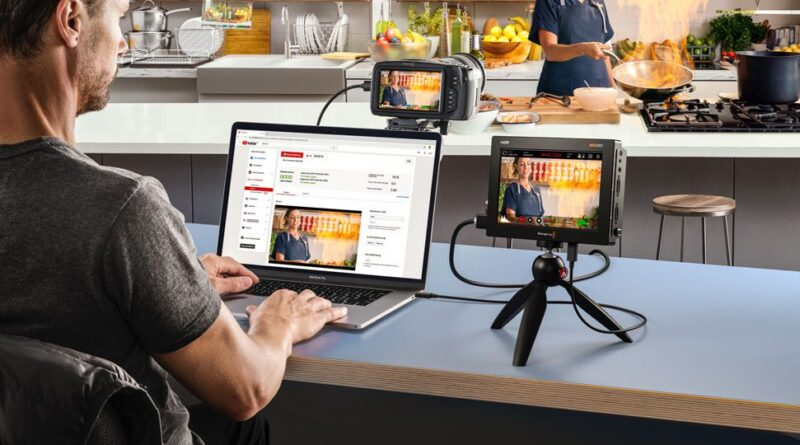 You can now use the Blackmagic Video Assist as a USB webcam for live streaming