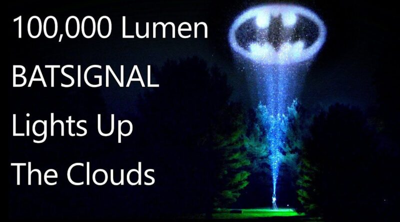 How to project the bat signal onto clouds with a 100,000 Lumen light and a DIY projector