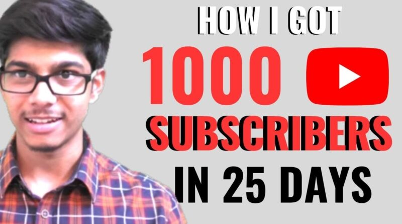 How I got 1000 Subscribers in 25 Days Tamil | D Entrepreneur