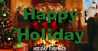 Christmas Fireplace From the MilMar Zone with Stocking and Snow 2020