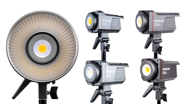 Specs released for Aputure's new 100D/X and 200D/X LED lights – shipping starts next week