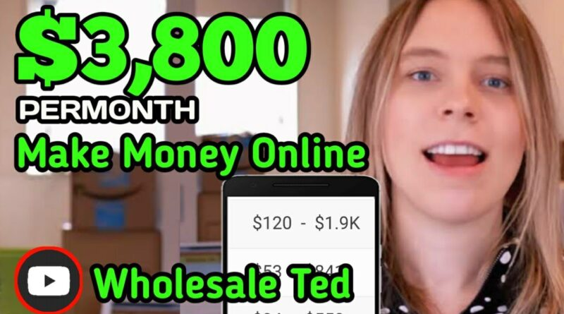 Make money online [ $3,800 ] Permonth• [ Wholesale Ted ] How To Make Money Online On YouTube