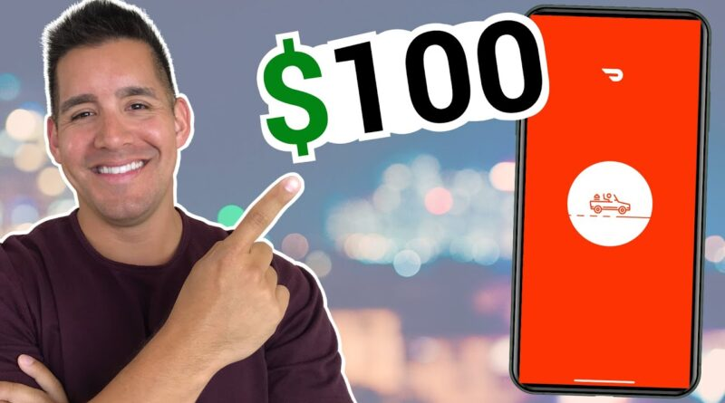 Making $100 in HALF A Day Driving DoorDash