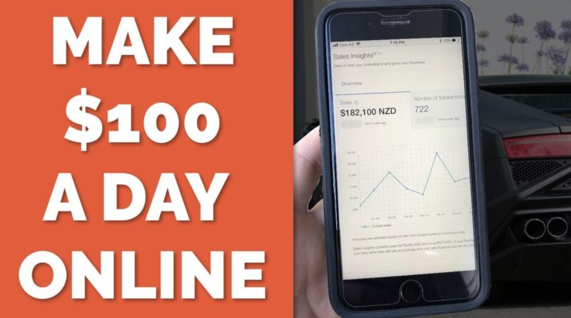 How To Make $100 A Day Online And Get Paid With PayPal