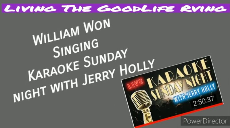 RV Newbies William Won singing Karaoke