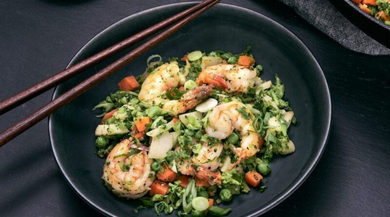 "Shrimp and Broccoli Fried ""Rice"""