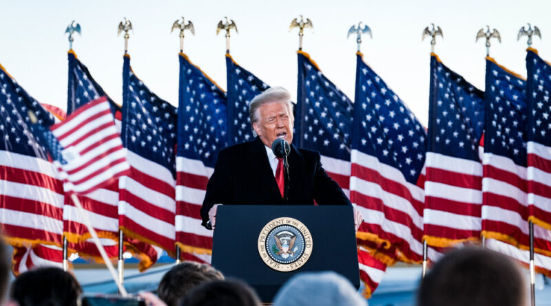 Trump's final speech as president included falsehoods and exaggerations. Here's a fact-check.