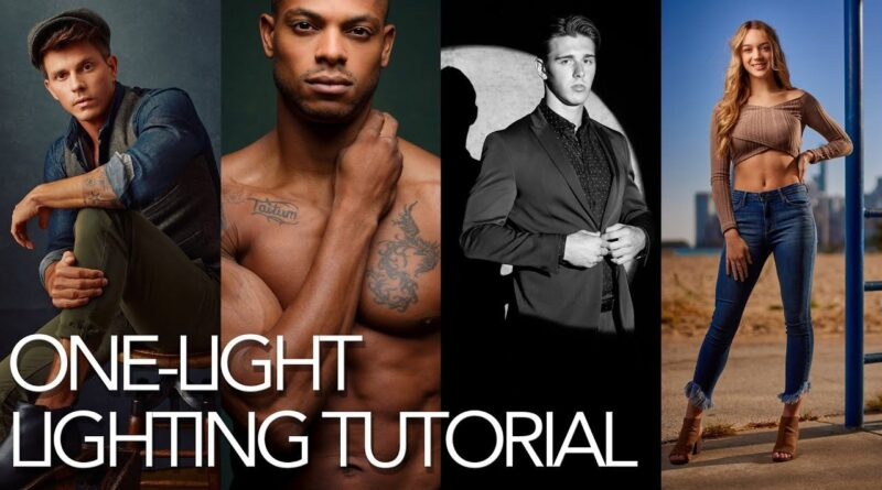 Watch these four awesome one-light portrait setups in just 10 minutes