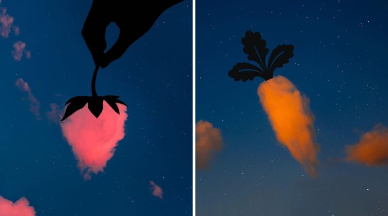 Photographer matches sky photos with silhouettes in this fun creative project