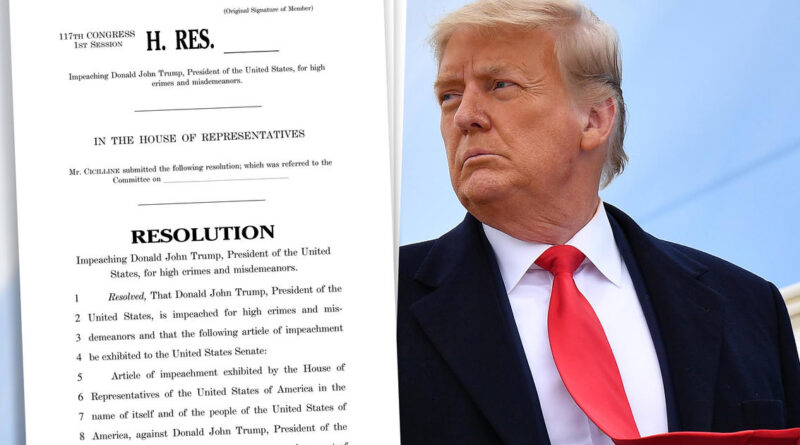 Read the full article of impeachment accusing President Trump of incitement of insurrection