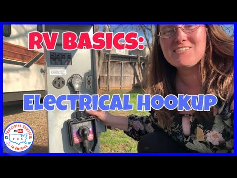 RV Electrical hookup at Campground for Newbies ~ RV Nomads ~ Full Time RV living ~ POA vlog