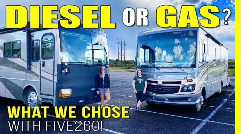 GAS or DIESEL Motorhome? We Compare Class A RVs with @Five2Go | RV Living