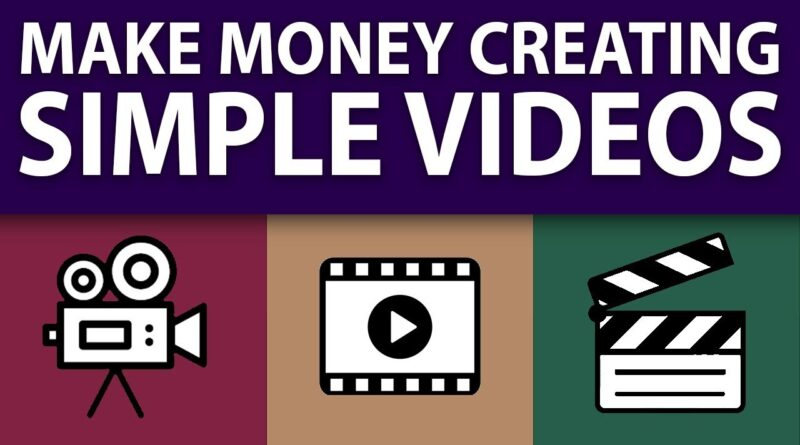 Make Money Creating Simple Videos On YouTube (EASY!)