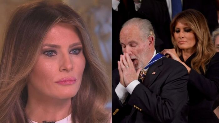Melania Trump Pays Touching Tribute To Rush Limbaugh – A 'Fearless American Patriot'
