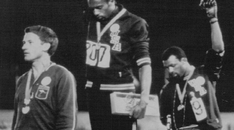 Before Colin Kaepernick's knee, there was Tommie Smith's raised fist. 'With Drawn Arms' tells his story.