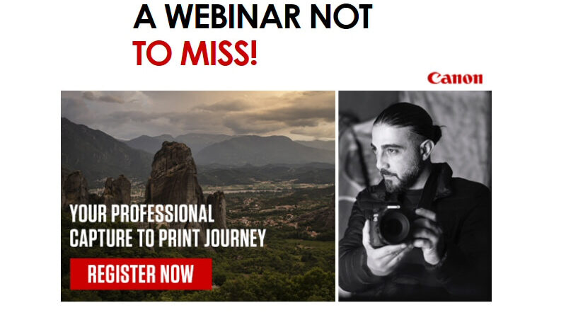 Canon: Capture to Print Webinar March 3rd 11am