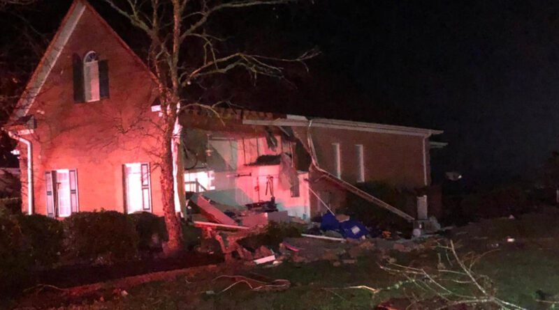 Deadly tornado tears through parts of North Carolina and traps people in homes