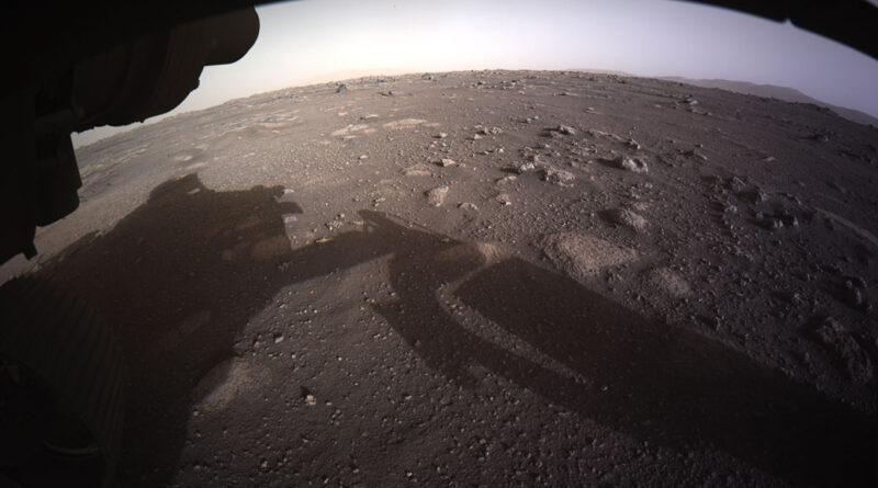 Perseverance Snaps Its First Full-Color Image of Mars