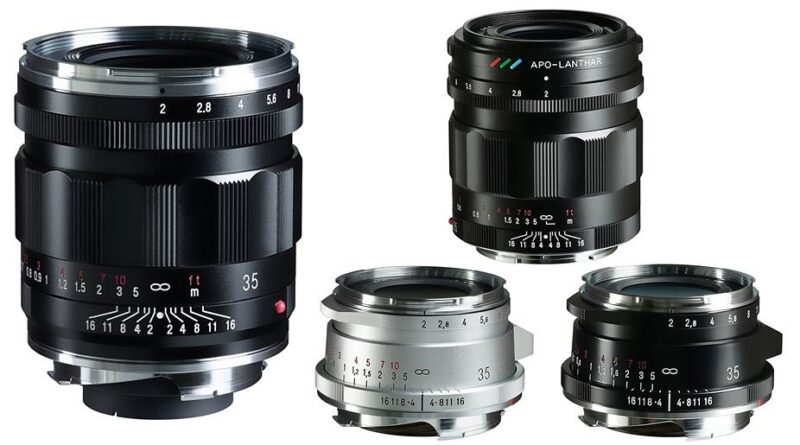Cosina has announced three new 35mm f/2 Voigtlander lenses for Leica M and Sony E