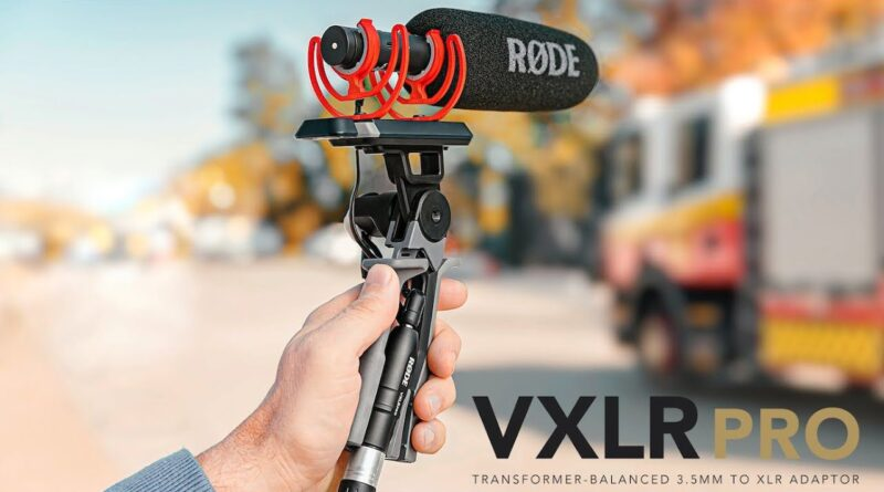Rode's VXLR Pro lets you use your on-camera or lav mic with cables up to 100 metres long
