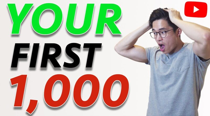 How to Get Your First 1,000 YouTube Subscribers (Organically) in 2020!