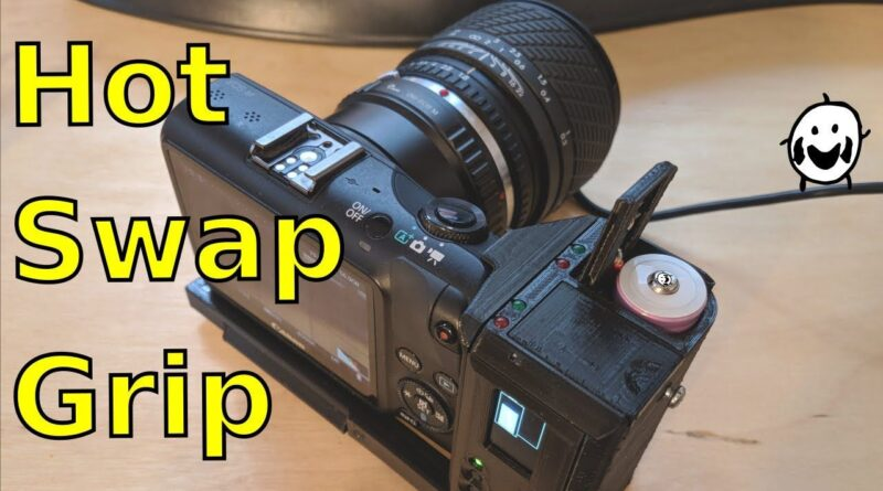 This tinkerer built his own 18650-powered DIY battery grip for his Canon EOS M