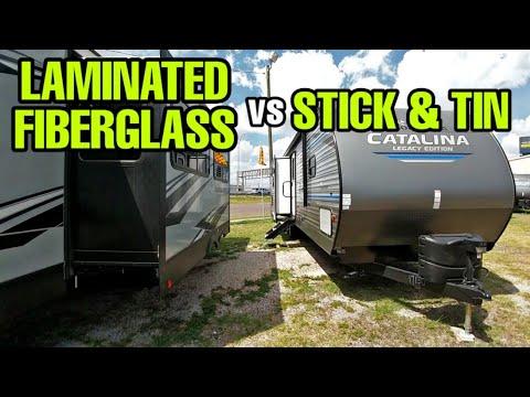 Fiberglass Laminate vs Stick and Tin Travel Trailers and Fifth Wheel RVs!