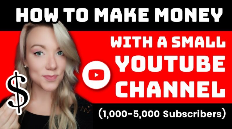 How to Make Money on YouTube with a Small Channel and Monetize in 2021 (1,000-5,000 Subscribers)