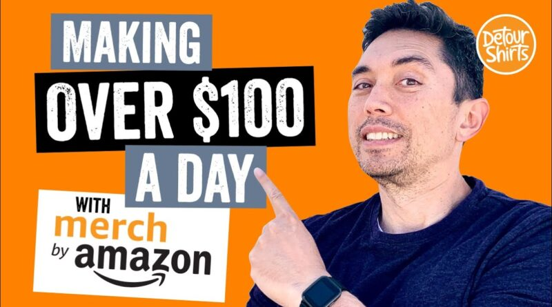 Make $100 a day on Merch by Amazon. 6 Merch Sellers who are doing it. Get tips on how to do it.