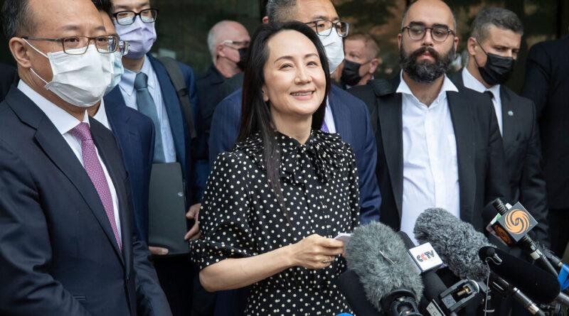 U.S. Reaches Agreement to Release Huawei's Meng Wanzhou
