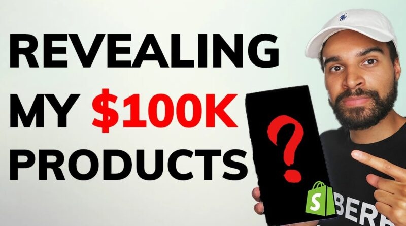 REVEALED: My $100,000 Winning Shopify Products