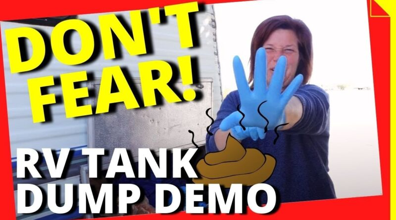 RV Dump Tank How To for Newbies with Demonstration