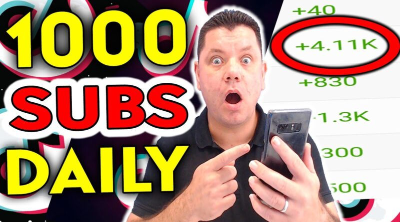 How To Get 1000 SUBSCRIBERS On YouTube Fast Using TikTok!? (WITH PROOF)