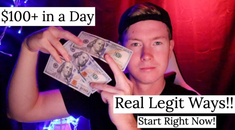 How to make $100 a day as a Teenager