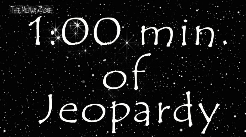 1-minute Timer  of Jeopardy In Space 2020 — aka What You Can Do In 1 Minute?