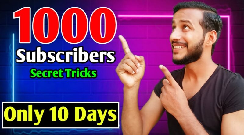 How to Get More Subscribers on YouTube | Get your First 1000 Subscribers on YouTube Fast | New Trick