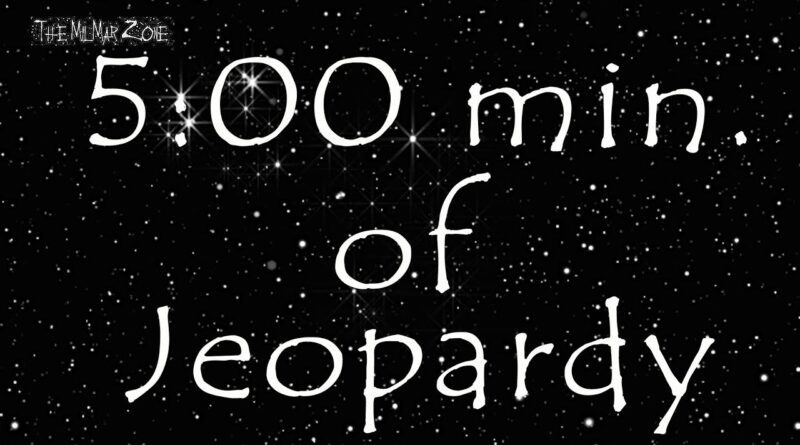 5 minute Timer of Jeopardy in Space