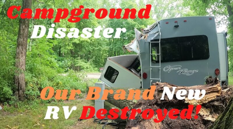 Camping Disaster/Our Three Month Old RV Was Destroyed by a Tree While Camping #HighlandRidge