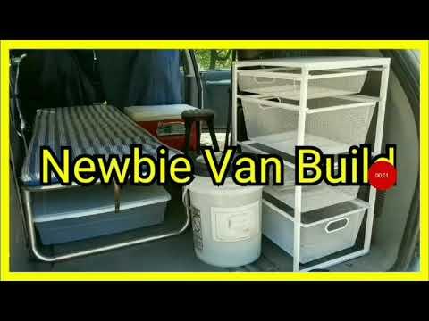 Newbie No Build Van Build DIY Minivan Camper Conversion Tour