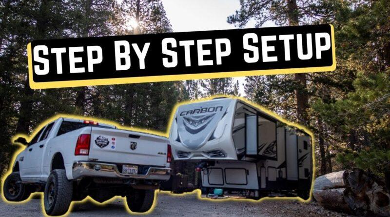 HOW TO SET UP A CAMPSITE || RV SETUP || RVing Newbie